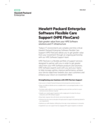 Hewlett Packard Enterprise Software Flexible Care Support (HPE FlexCare): Gain greater value from your HPE Software solutions and IT infrastructure data sheet