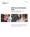 HPE Power Distribution Units for setting new standards for accuracy, automation, and ease of use family data sheet (English)
