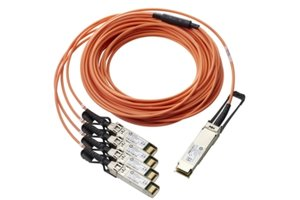 HPE BladeSystem c-Class QSFP+ to 4x10G SFP+ 15m Active Optical Cable