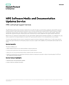 HPE Software Media and Documentation Updates Service (English)