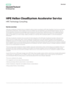 HPE Helion CloudSystem Accelerator Service: HPE Technology Consulting data sheet (English)