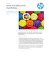 Photo Light fade resistance for Consumer for HP Inkjet photo printing
