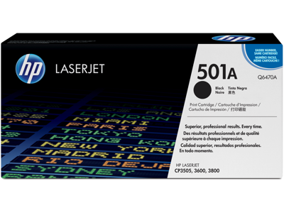 HP 501A Black Original LaserJet Toner Cartridge