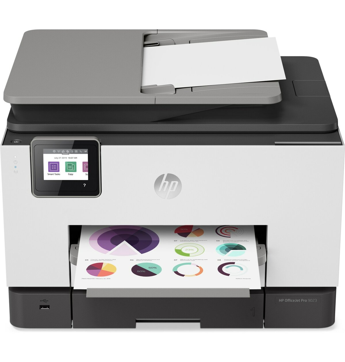 slide 2 of 2,show larger image, hp officejet pro 9023 all-in-one printer