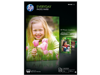 HP Everyday Glossy Photo Paper-100 sht/A4/210 x 297 mm