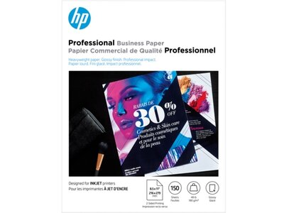 HP Professional Multi-use Glossy FSC Paper 180 gsm-150 sht/Letter/8.5 x 11 in