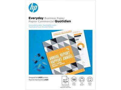 HP Everyday Laser Glossy FSC Paper 120 gsm-150 sht/Letter 8.5 x 11 in