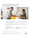 HP EcoSmart black toner. Data sheet