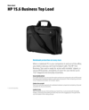 HP 15.6 Business Top Load (English)