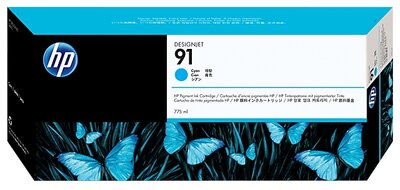 HP 91 775-ml Cyan DesignJet Pigment Ink Cartridge