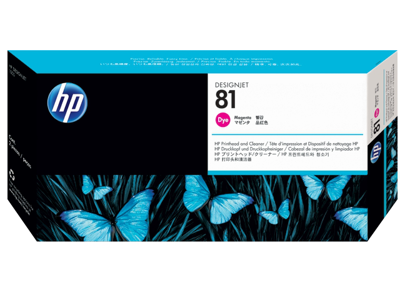 HP 81 Magenta DesignJet Dye Printhead and Printhead Cleaner