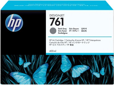 HP 761 400-ml Dark Gray DesignJet Ink Cartridge
