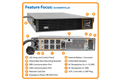 slide 1 of 8,zoom in, su3000rtxl2u smartonline® double-conversion rack/tower sine wave ups with expandable runtime and network slot