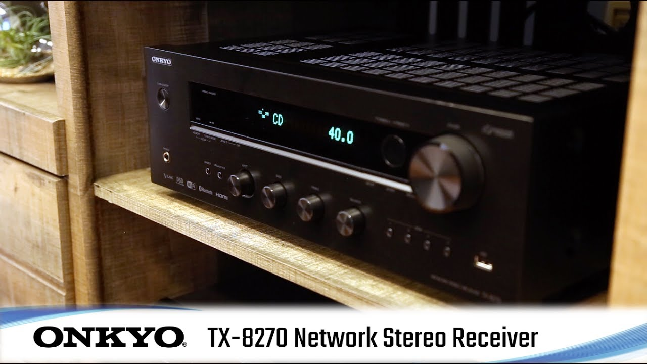 Onkyo TX-8270 Network Stereo Receiver with Built-In HDMI, Wi