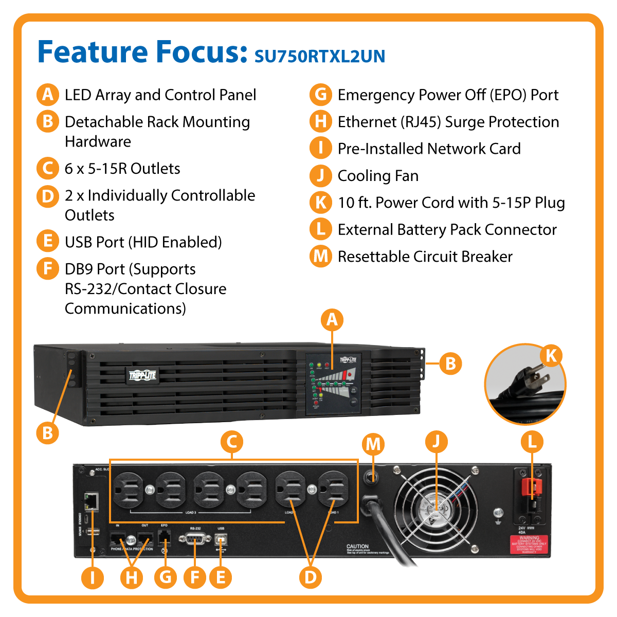 slide 1 of 10,show larger image, su2200rtxl2un smartonline®  double-conversion rack