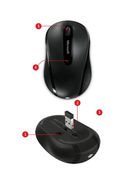 Microsoft Wireless Mobile Mouse 4000 - mouse - 2 4 GHz - graphite