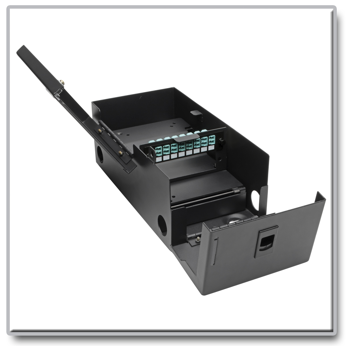 Buy Tripp Lite High Density Fiber Adapter Panel Mmf Smf 8 Lc At Front Wiring Issue Solved Acer Components Connects Duplex Cables Within Secure Wall Mount Enclosure