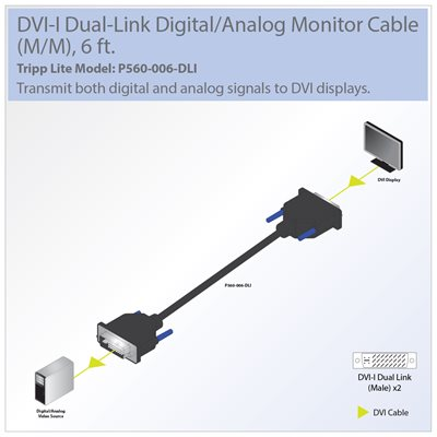 Transmit both Digital and Analog Signals on DVI Displays Up to 6-ft. Away from the Source