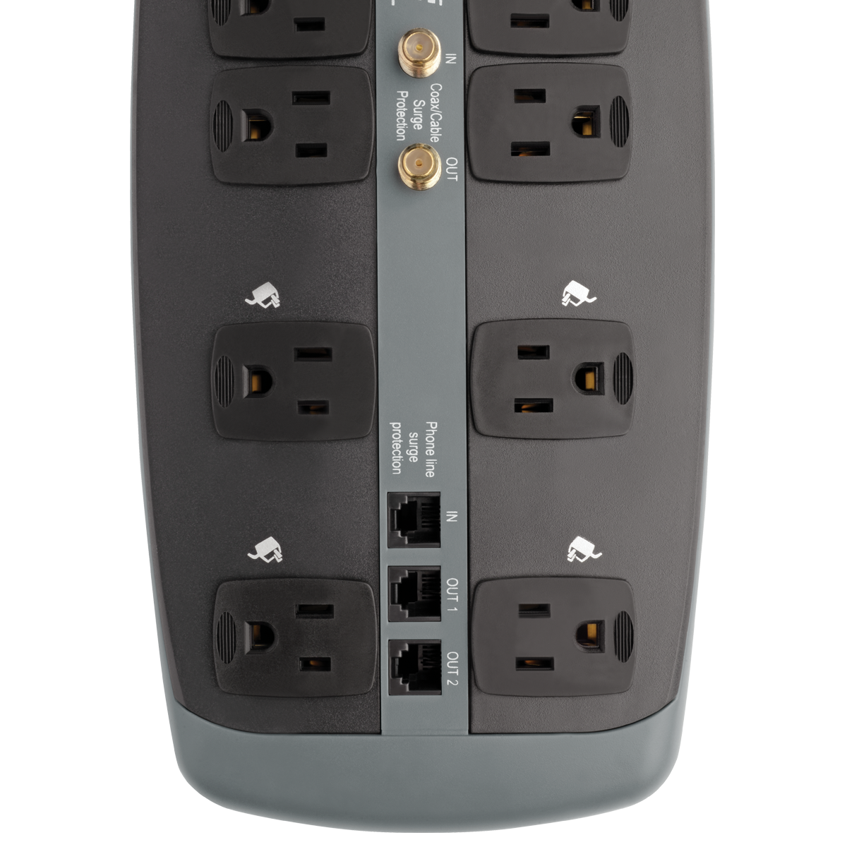Tripp Lite Surge Protector 120v 10 Outlet Rj11 Coax 8 Cord 3345 Wiring Diagram On Is A Cable Television Because It Joule By Office Depot Officemax