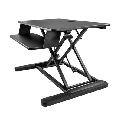 Work in comfort and enhance productivity, by turning your desk into a spacious sit-stand workspace