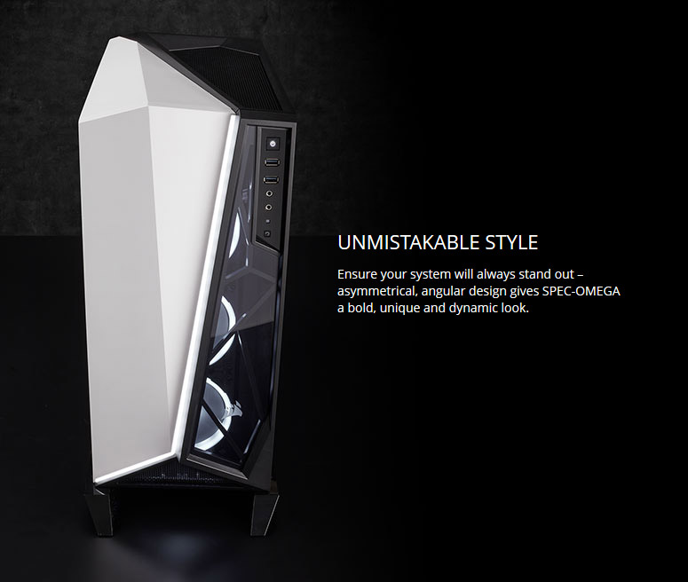 CORSAIR Carbide Series SPEC-OMEGA Mid-Tower Tempered Glass Gaming Case,  Black and White CC-9011119-WW - Newegg com