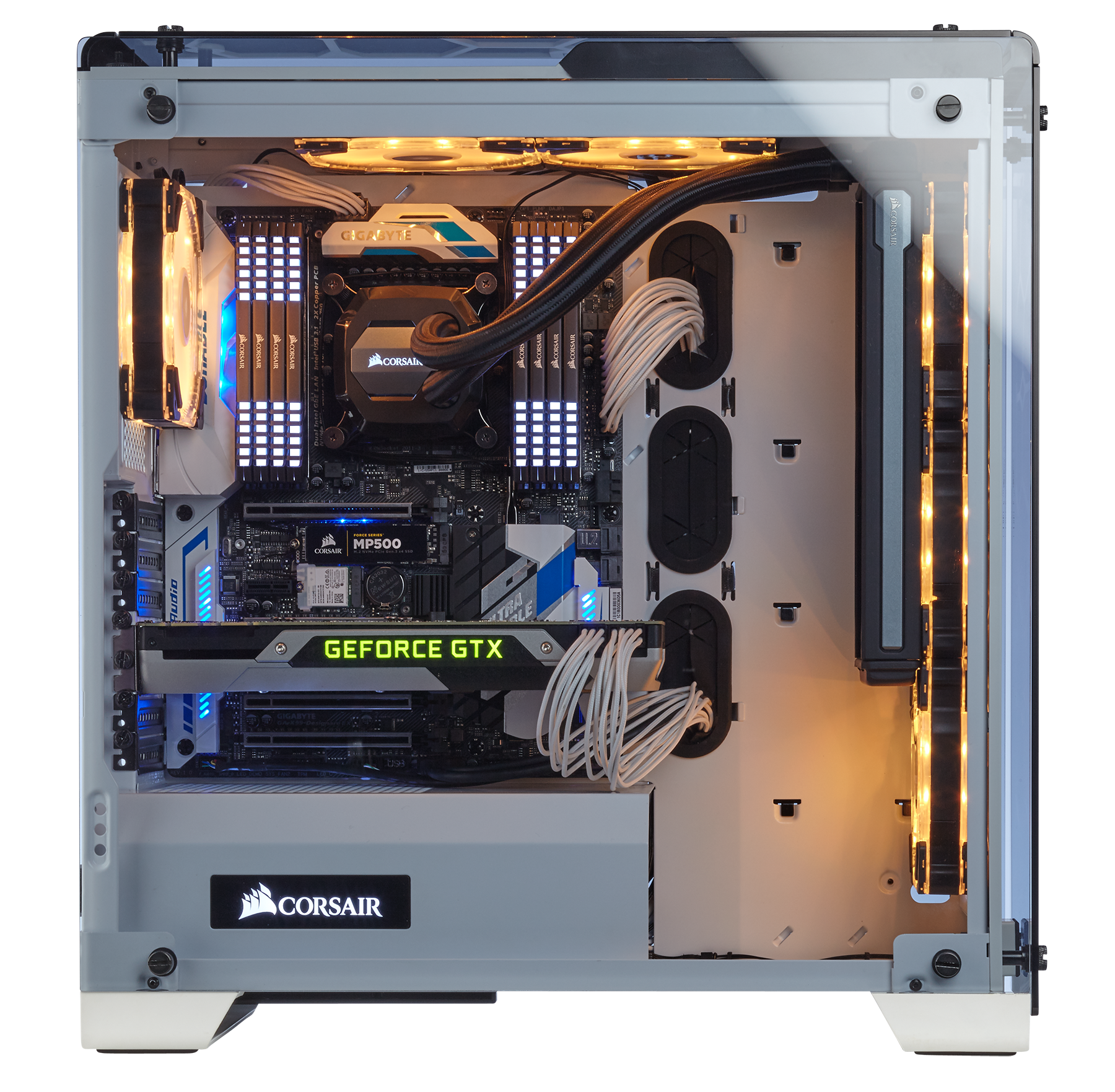 Corsair Crystal 570x Rgb Tempered Glass Premium Atx Mid Tower Case Belgian Startup Lets You Build Circuit Boards Online Wired Uk White