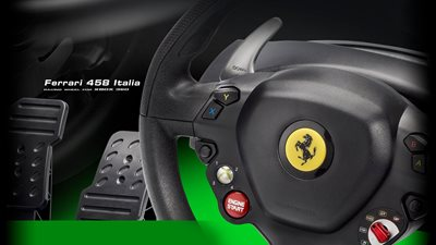 Thrustmaster Ferrari 458 Italia - Wheel and pedals set - wired - includes Forza 3 and Forza 7 for PC, Microsoft Xbox One