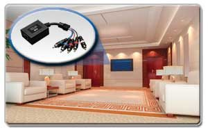Extend a 1080p Component Video and Stereo Audio Signal Up to 300 ft.