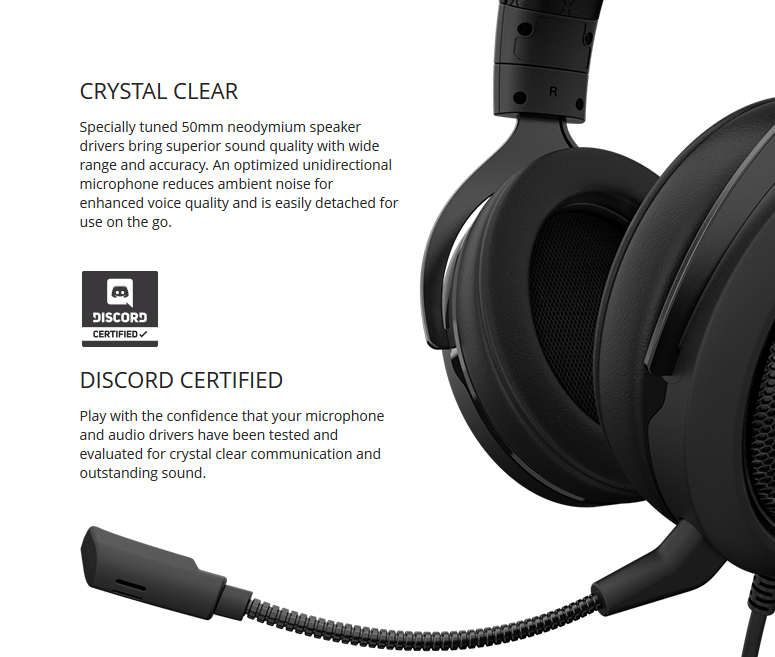 Corsair HS60 Surround Stereo Gaming Headset with 7 1 Surround Sound -  Carbon - Newegg ca