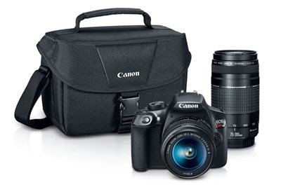 Canon EOS Rebel T6 - digital camera EF-S 18-55mm and EF 75-300mm lenses