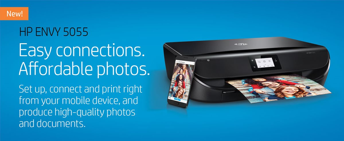 HP ENVY 5055 Wireless Color Inkjet All-in-One Photo Printer (M2U85A) Item #  6082637