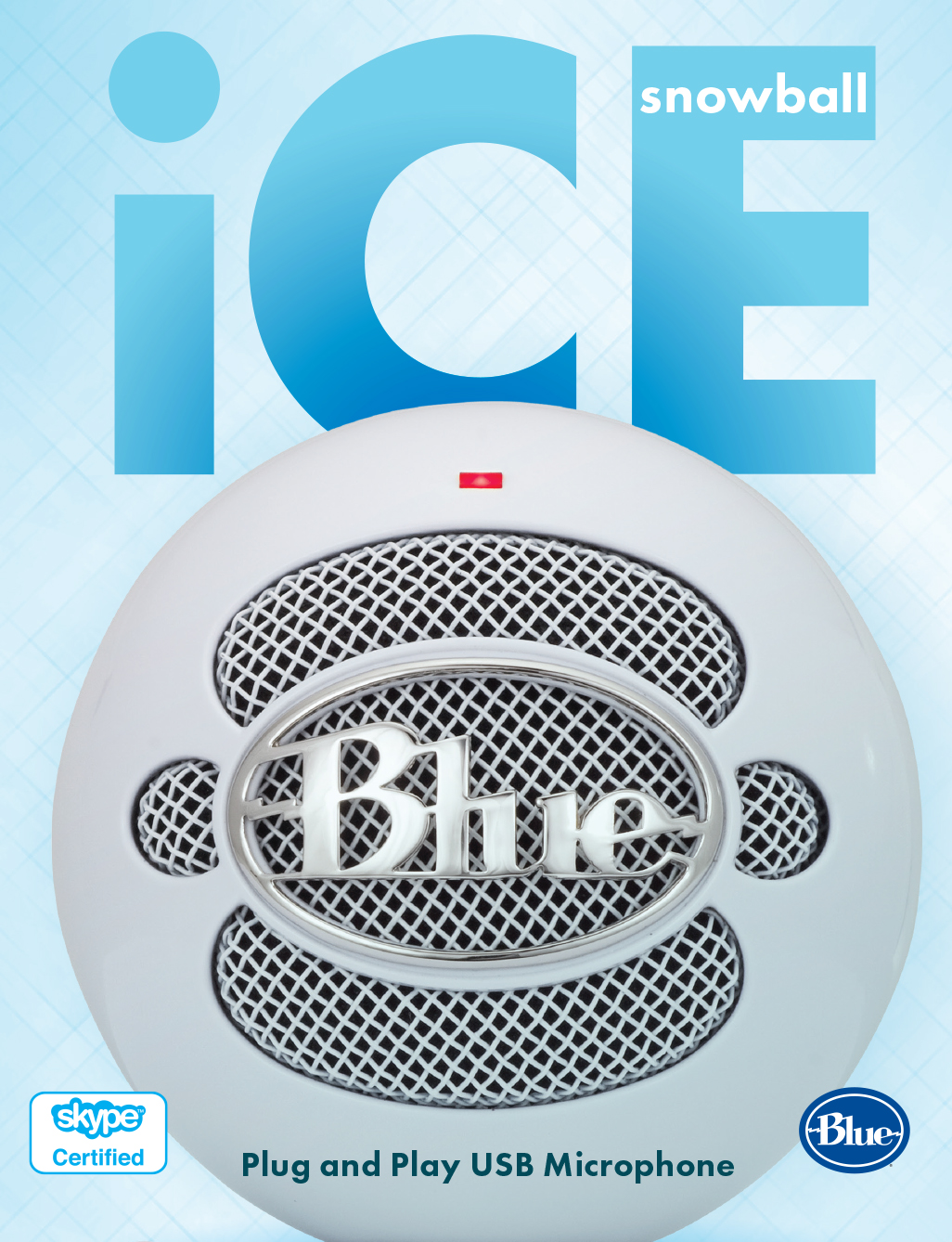 Blue Snowball iCE USB Microphone - White   Dell USA