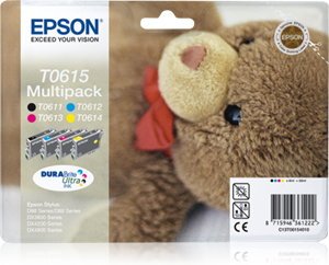 EPSON MULTIPACK 4-COLOURS T0615 DURABRITE ULTRA INK