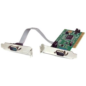 Add 2 high-speed RS-232 serial ports to your low profile/small form factor computer with a PCI expansion slot