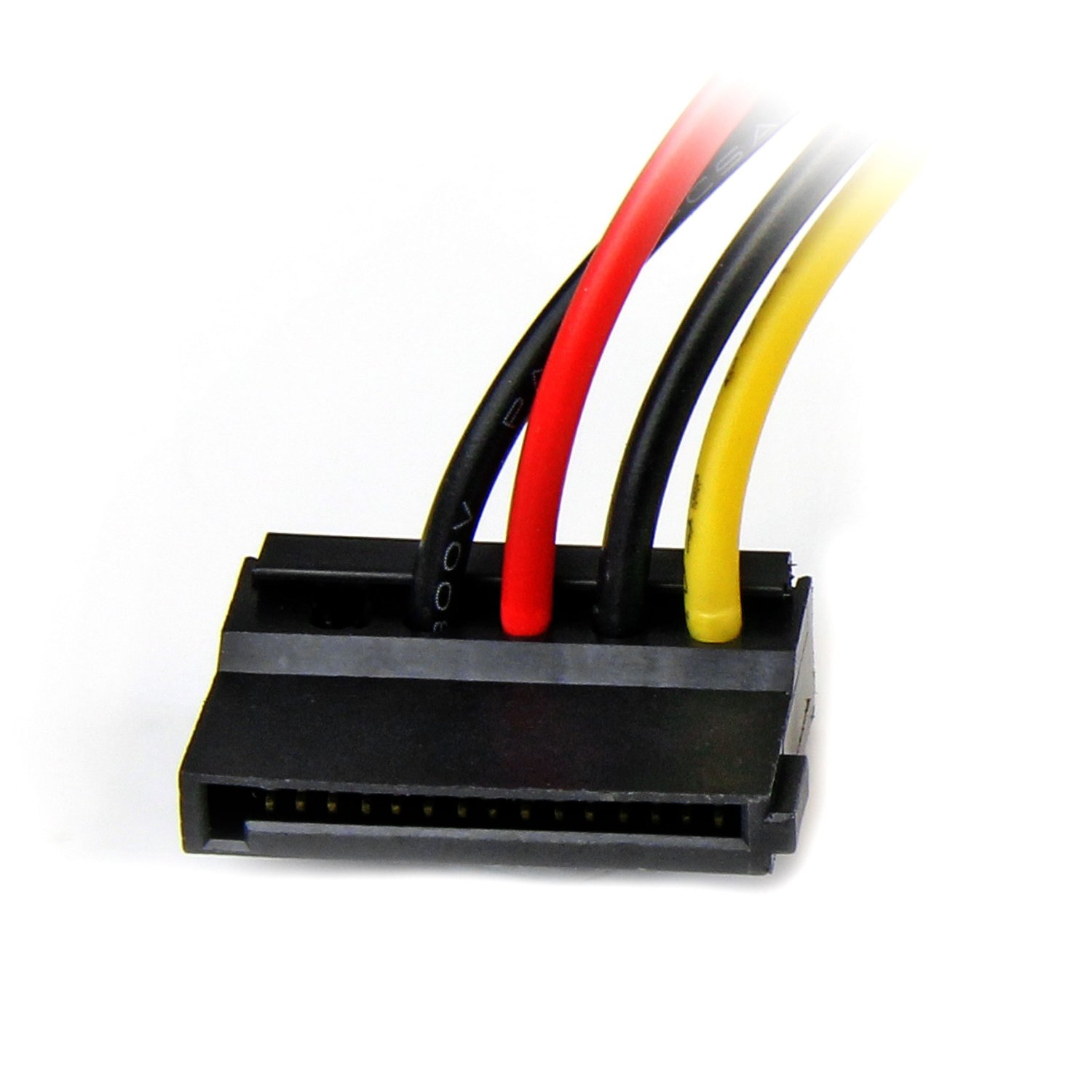 Startechcom 6in 4 Pin Molex To Left Angle Sata Power Cable Adapter Plug Wiring Diagram A Hard Drive From Conventional Lp4 Supply Connection
