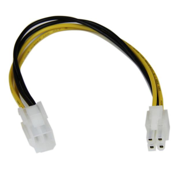StarTech.com 8in ATX12V 4 Pin P4 CPU Power Extension Cable MF by ...