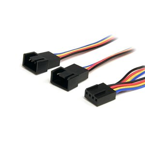 Connect two 4-pin (PWM) Fans to a Single Motherboard Fan Power Connector