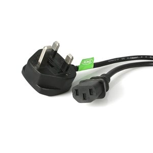 Connect to a grounded UK power outlet from any PC computer up to 3m away