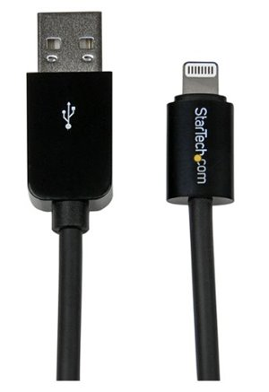 StarTech.com Long Black Apple 8-pin Lightning to USB Cable iPhone iPod iPad