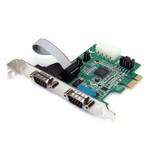 Add 2 RS-232 serial ports to your full height or low profile computer through a PCI Express slot
