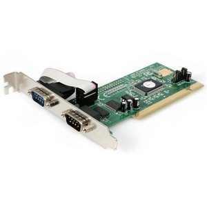 Add 2 high-speed RS-232 serial ports to your PC through a PCI expansion slot