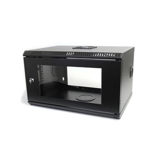 Securely mount network and telecom equipment to the wall with this lockable 6U wall mount cabinet