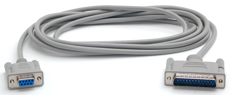10 DB25M to DB9F Null Modem Cable