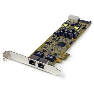 StarTech.com Dual Port Gigabit Ethernet PCIe Network Card Adapter - PoE/PSE