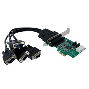 Add four RS232 serial ports to any PC using a single PCI Express expansion slot