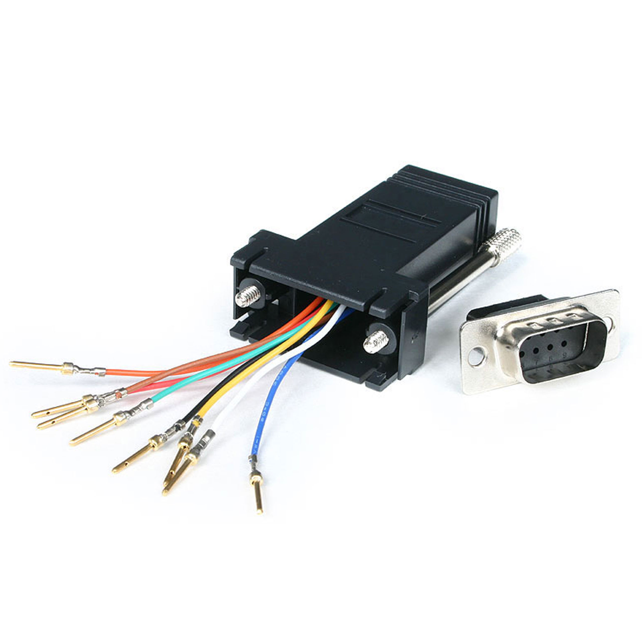 Startechcom Db9 To Rj45 Modular Serial Adapter Black Gc98mf Pin Wiring Miscellaneous Cables