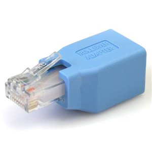 Convert your RJ45 Ethernet cable into a Cisco Console Rollover cable.
