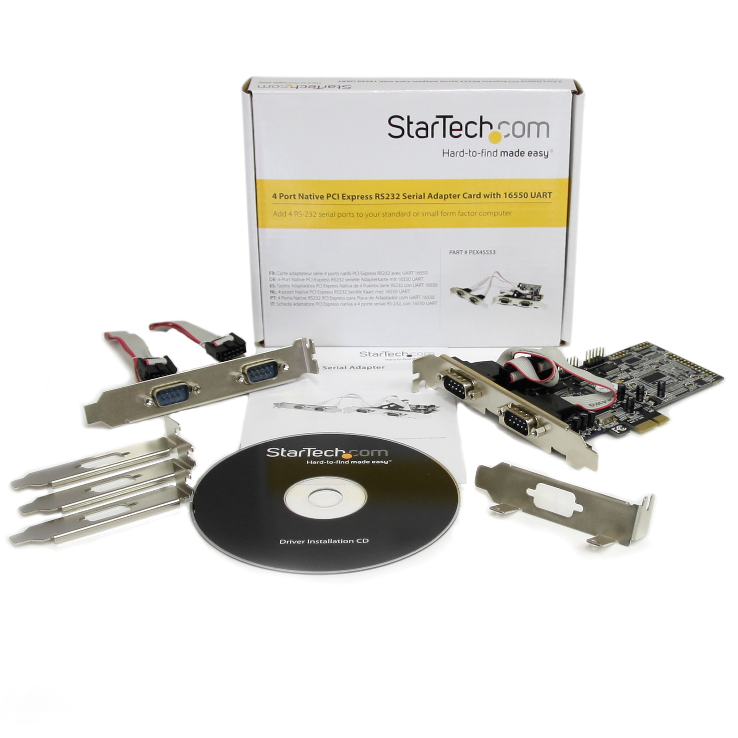 Product Startechcom 4 Port Native Pci Express Rs232 Serial Pic Programmer Slide 1 Of 8show Larger Image Add Rs 232 Ports