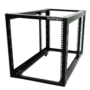 Store your servers, network and telecommunications equipment in this 12U, adjustable open-frame rack