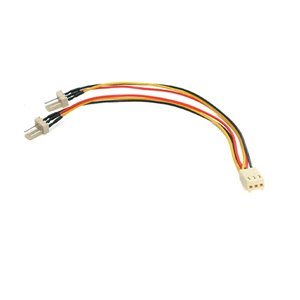 Connect two 3-pin (TX3) fans to a single power supply connector